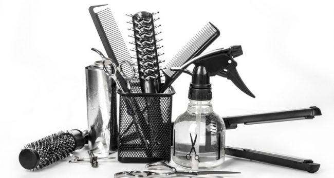 Friseur Equipment im Haar-Atelier